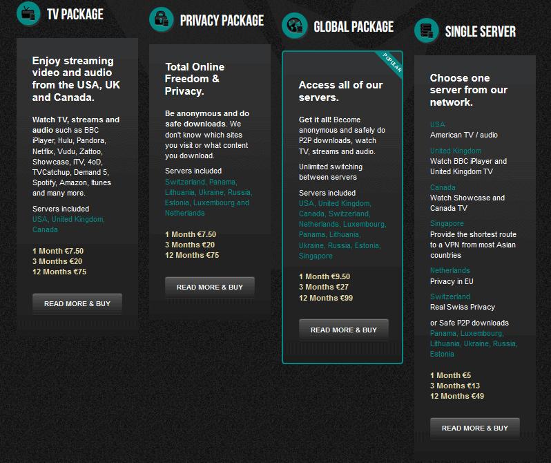 blackVPN packages, Freedom Hacker