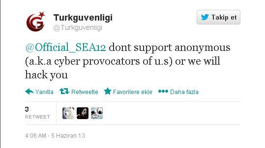 Turkish Hackers tweet Syrian Electrnoic Army, Freedom Hacker