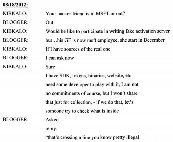 Microsoft HotMail Alex Kibkalo Statements, Freedom Hacker
