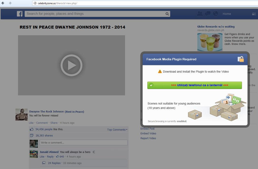 The Rock Scam Fake Facebook Download
