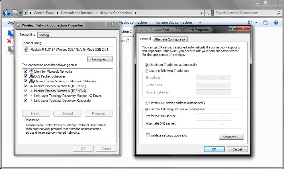 Change DNS Windows IPv4
