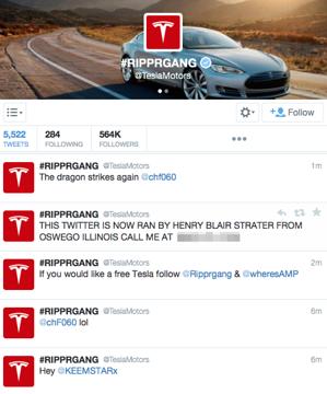 Tesla Twitter Hijacked