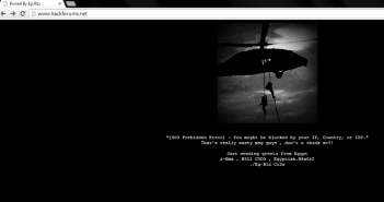 Hackforums Website Defaced by Egyptian Hacker1, Freedom Hacker