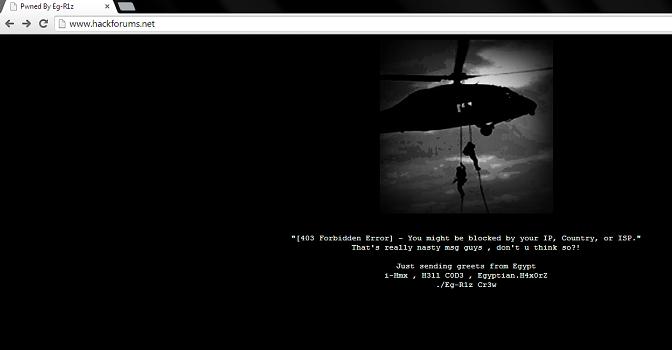 Hackforums Website Defaced by Egyptian Hacker1, Freedom Hacker