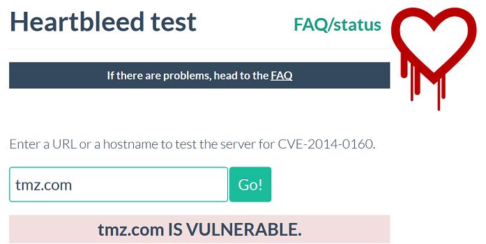 TMZ Vulnerable to Heartbleed Bug, Freedom Hacker